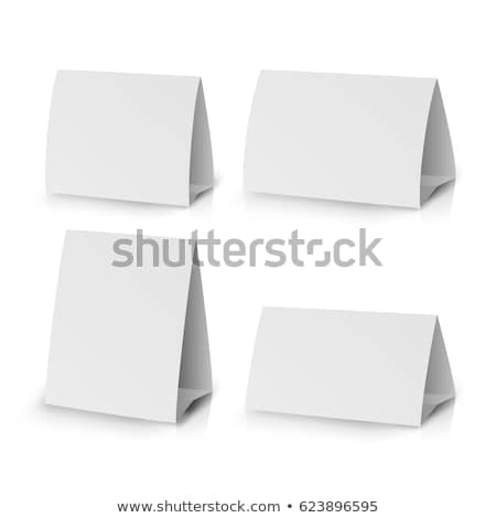 White Paper Stand Table Tag Flyer Vector Stationery Brochure. Stock photo © pikepicture