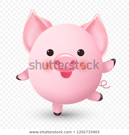 pequeno · porcos · brasão · adulto · homem · jeans - foto stock © FOTOYOU
