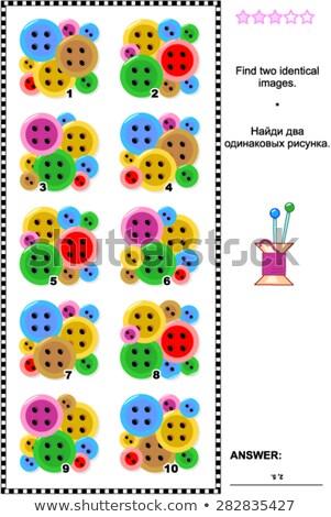 Bulmak aynı düğmeler oyun çocuklar görev Stok fotoğraf © Olena