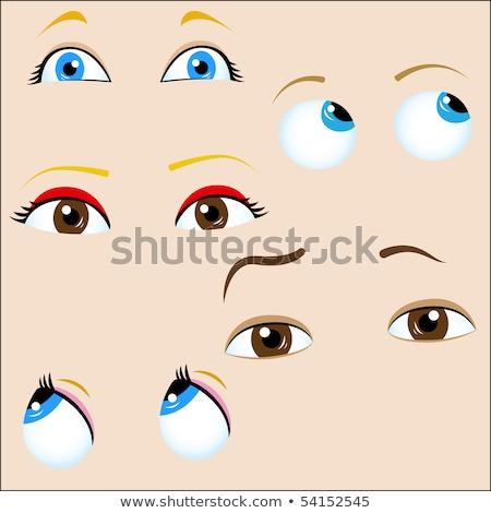 Female eye set glare in the pupil Stock photo © studiostoks