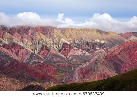 Stockfoto: Gekleurd · bergen · Argentinië · breed · hemel · natuur