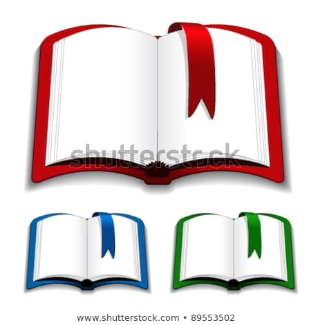 open book with empty sheets and red bookmark stock photo © orensila