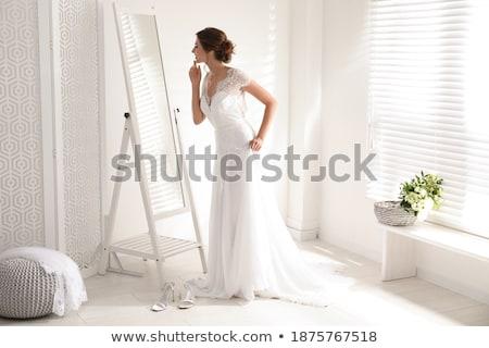 duygusallık · romantik · beyaz · uzun · elbise - stok fotoğraf © dashapetrenko