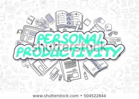 Persoonlijke produktiviteit doodle groene woord business Stockfoto © tashatuvango