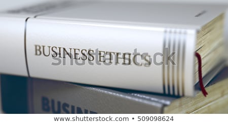 Book Title of Business Ethics. 3D. Stock photo © tashatuvango