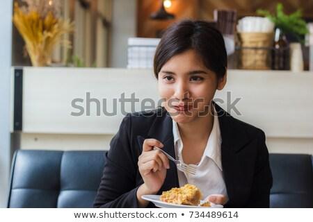 Mooie gebakken appeltaart platen vers top Stockfoto © StephanieFrey