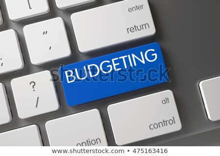 Budget planning toetsenbord witte gekozen Stockfoto © tashatuvango