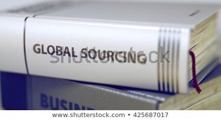 Globális könyv cím gerincoszlop boglya közelkép Stock fotó © tashatuvango