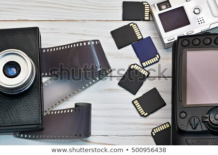 Stock foto: Closeup Photo Lens With Security Solutions
