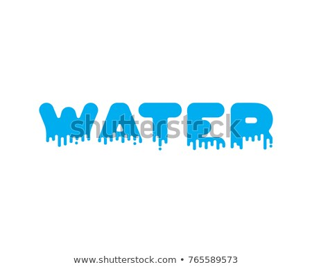 Su sıvı imzalamak su alfabe metin Stok fotoğraf © MaryValery