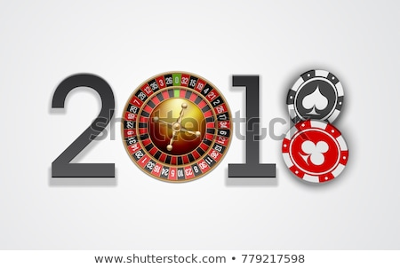 Stock photo: Happy new 2018 year casino background, vector illustration
