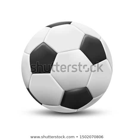 3D Football Ball Vector. Classic Soccer Ball. Illustration Stock photo © pikepicture