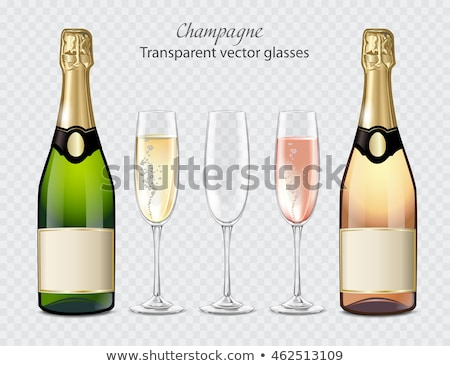 rose pink champagne glass with bubbles isolated stock photo © denismart