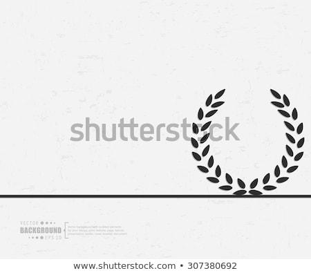ストックフォト: デジタル · ベクトル · 詳しい · 行 · 芸術 · オリーブ