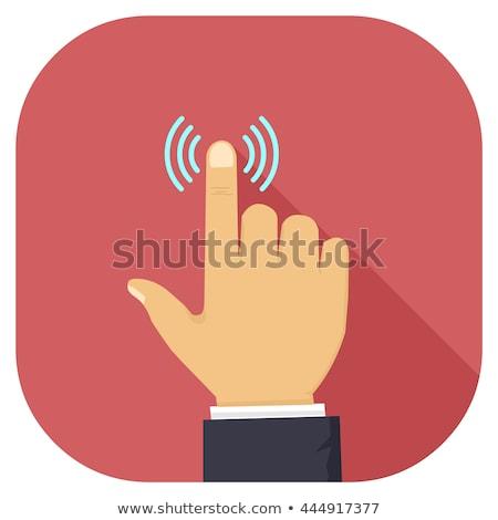 Człowiek biznesu palec puls biuro biznesmen stres Zdjęcia stock © IS2