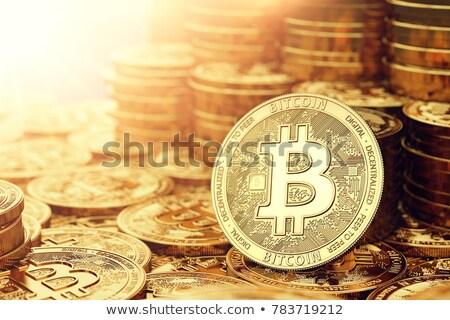 Stacked bitcoins Stock photo © stevanovicigor