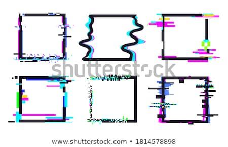 Glitch distortion frame. Vector square illustration Stock photo © m_pavlov