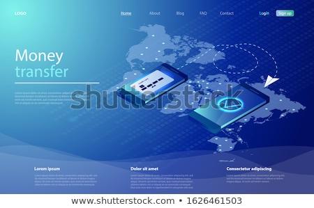 глобальный денежный перевод службе символ изолированный мобильных Сток-фото © sahua