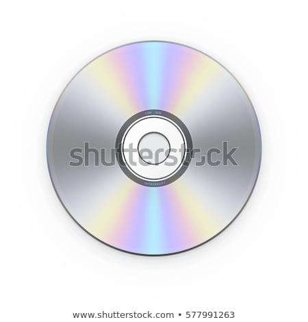Compact disc label ingesteld geïsoleerd witte Blauw Stockfoto © Grafistart