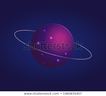 Shiny Mysterious Uranus with Thin Ring Around It Stock photo © robuart