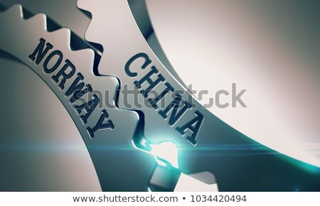 China Norway - Mechanism of Metal Gears. 3D. Stock photo © tashatuvango