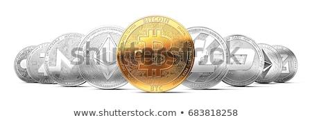 Bitcoin the golden virtual money Stock photo © compuinfoto