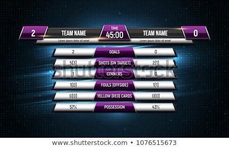 Baseball sport digitale scorebord geïsoleerd witte Stockfoto © konturvid