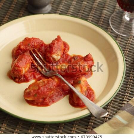 gevuld · inktvis · groenten · vis · restaurant - stockfoto © is2