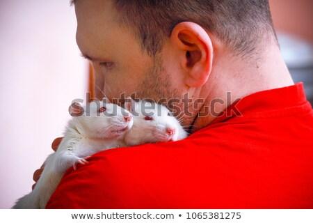 Branco rato ombro veterinário saúde trabalhador Foto stock © OleksandrO