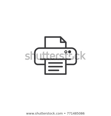 printer symbol icon. pixel perfect electric print outline line style template vector illustration Stock photo © taufik_al_amin