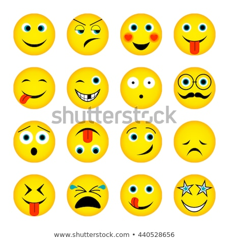 crying yellow star cartoon emoji face character with tears stock photo © hittoon