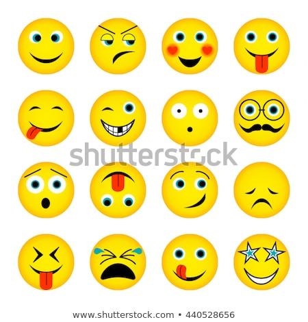 Ağlayan sarı star karikatür yüz karakter Stok fotoğraf © hittoon