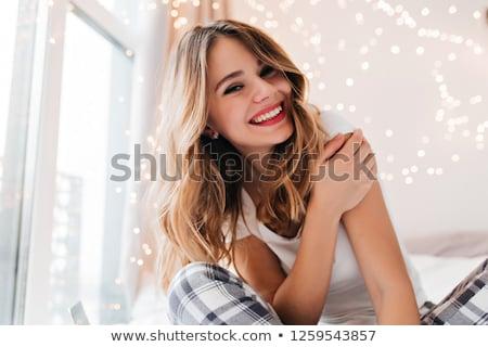 модный женщину блондинка свет окна Sexy Сток-фото © dmitriisimakov