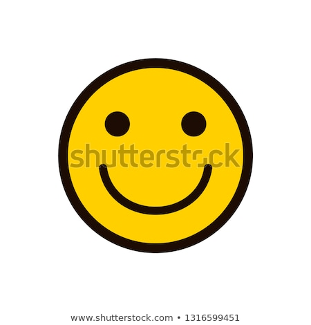 Blanco negro alegría amarillo cara sonriente ilustración Foto stock © hittoon
