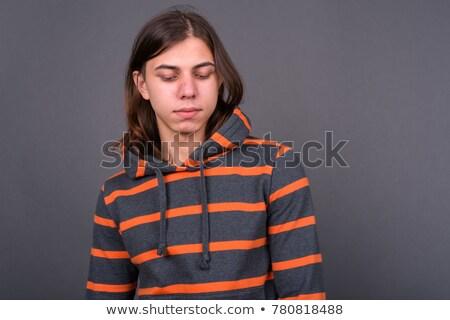 Bunalımlı adam moda üzücü serin yaşam tarzı Stok fotoğraf © wavebreak_media