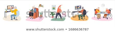 Wektora starych ludzi ilustracja działalności rodziny człowiek Zdjęcia stock © bluering