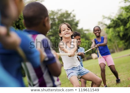 Kids Play Tug of War at School Stock photo © bluering