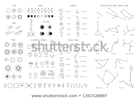 Astrological sign zodiac and planet. Vector set illustration Stock photo © m_pavlov