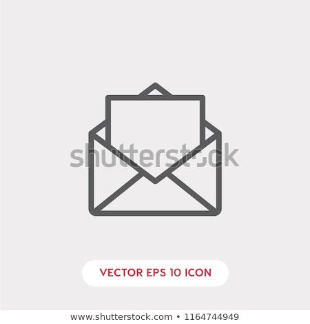 ベクトル · レトロな · 封筒 · アイコン · 詳しい - ストックフォト © kyryloff