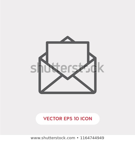 Envelope ícone isolado moderno linear projeto Foto stock © kyryloff