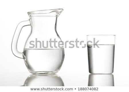 A carafe with water on a white background Stock photo © Zerbor