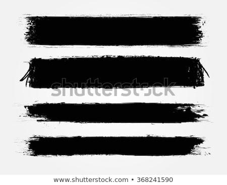 Stock fotó: Grunge · bannerek · szett · fekete · szürke · szalag