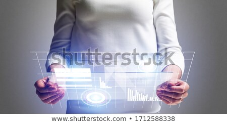 Glass plate for Analyzes. 3D Stock photo © user_11870380