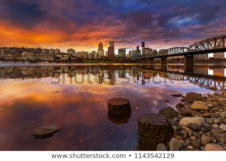 Stumptown Sunset Stock photo © davidgn