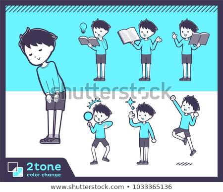 2tone type blue clothing boy_set 05 stock photo © toyotoyo