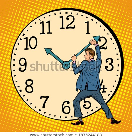 man wants to stop the clock. Time management Stock photo © studiostoks
