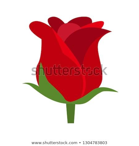 Emoticon with rose Stock photo © yayayoyo