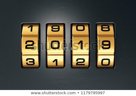 Coded lock. 2019 year. 3D illustration Stock photo © ISerg