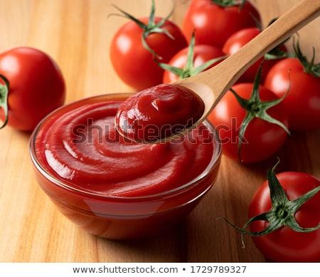 Pomodoro ketchup isolato bianco alimentare pasta Foto d'archivio © karandaev