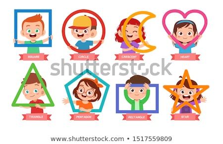 Kid Girl Basic Shapes Stock photo © lenm